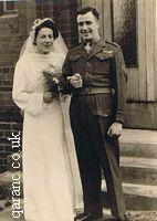 1940 Army Bride And Groom