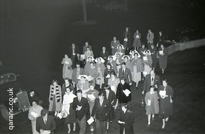 1957 QA Officers Wearing Capes Outside