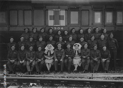 Ambulance Train 6304 World War Two RAMC QAIMNS Staff photo