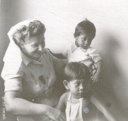 Army Nursing Sister With Children