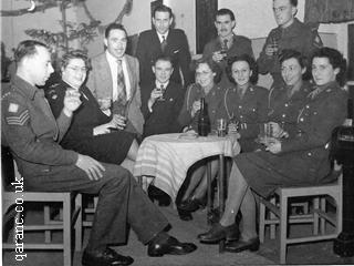 Army Officers in the Mess Celebrating New Year