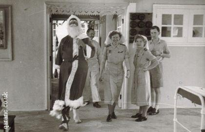BMH Kamunting Ward 8 1952 Father Christmas With Doctors And Nurses