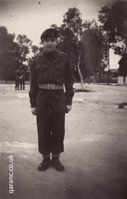 Bill Wind January 1959 british army uniform