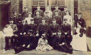 Brook Hospital Ambulance Station Staff World War One