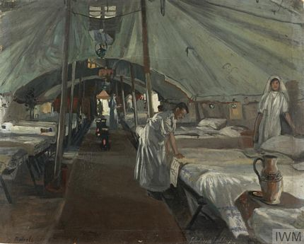 Casualty Clearing Station ward by J Hodgson Lobley