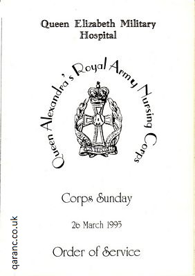 Corps Sunday Order of Service 26 March 1995