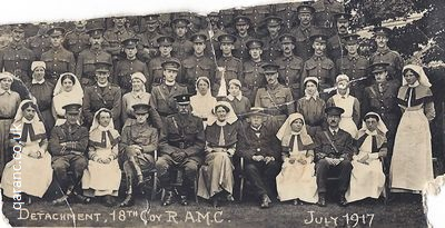 Detachment 18 Coy RAMC July 1917