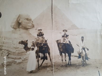 Egypt Sphinx QAIMNS Camels World War One