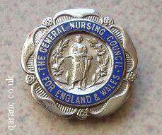 General Nursing Council For England and Wales badge