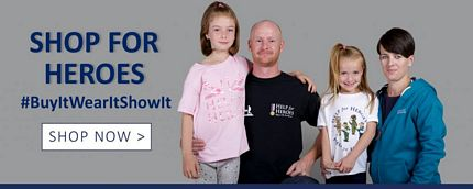Help For Heroes Charity Shop Discount Promotion Code