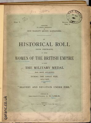 Historical Roll Women of the British Empire