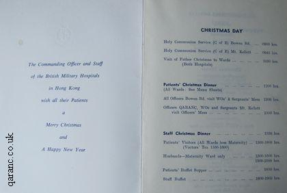 Hong Kong Christmas Menu