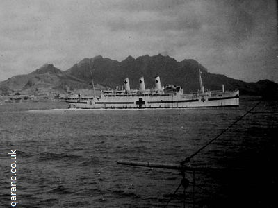 Hospital Ship Tyrea at Aden 1941