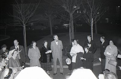 Hospital Staff Singing Outside 1950s Hospital
