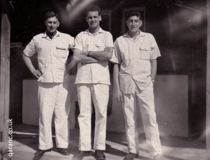 Jim Davis, Sgt Jack Scott and Terry Manning March 1958