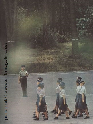 Learning to march QARANC Parade ground square aldershot soldier cover