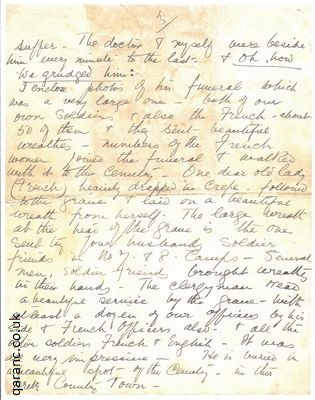 Letter from nurse ww1 to widow