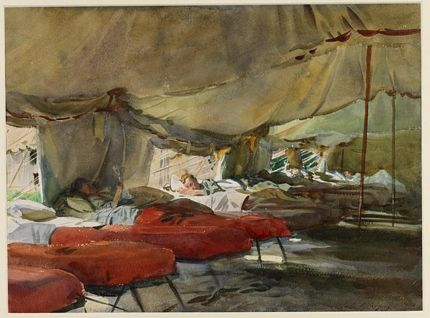 Marquee tent css world war one John Singer Sargent painting