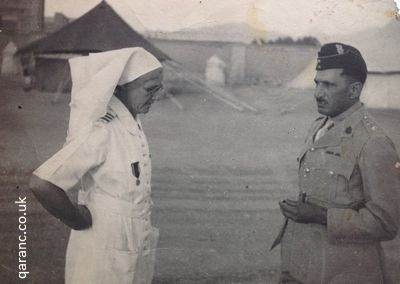 Matron Hughes QAIMNS WWII Outside Tented Hospital