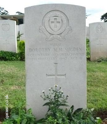 Nurse Dorothy Sugden Grave Voluntary Aid Detachment World War Two
