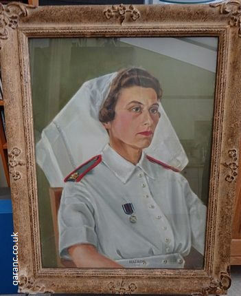 Oil Painting Matron QAIMNS Tropical Uniform