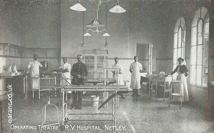 Operating Theatre RV Hospital Netley Postcard