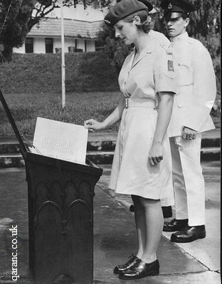 Page Turning Books Ceremony RAMC BMH Singapore in 1970