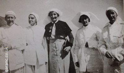 Polish Refugee Prisoner of War Red Cross Nurses With QAIMNS Matron And Nursing Sisters