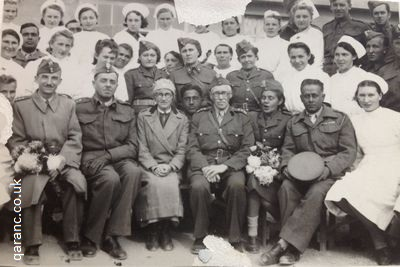 Polish staff 1942 with QAIMNS Matron and Assistant Matron