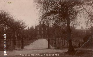 Postcard Colchester Military Hospital