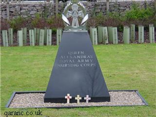 QARANCMemorial with Remembrance Crosses