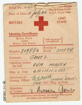 Red Cross Identity Certificate