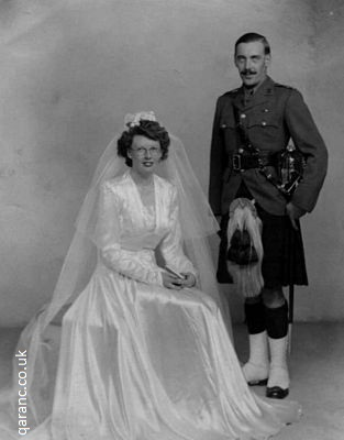 Scottish soldier wedding World War Two