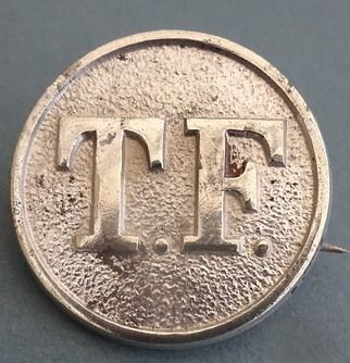TF Territorial Force Metal Badge
