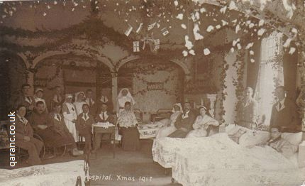 abbots ripton hall auxiliary hospital huntingdonshire christmas 1917