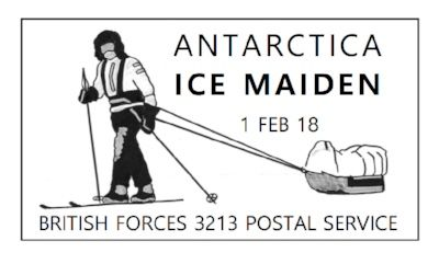 antartica ice maiden commemorative first day cover stamp