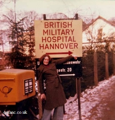 British Military Hospital Hannover Sign 1976