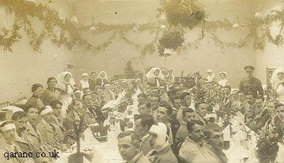 Christmas Dinner during World War One with Patients Nurses and Doctors