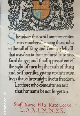 First World War commemorative next of kin memorial scroll letter King George Buckingham Palace