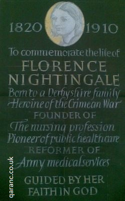 florence nightingale memorial plaque