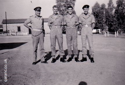 Captain O' Sullivan, John Tait, Terry Manning and Terry Windibank in August 1958.