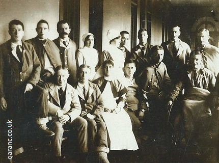 Photo Postcard Royal Victoria Netley Patients and Staff