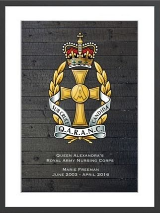 qaranc framed print cap badge