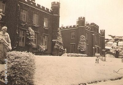snow covered Colchester military hospital