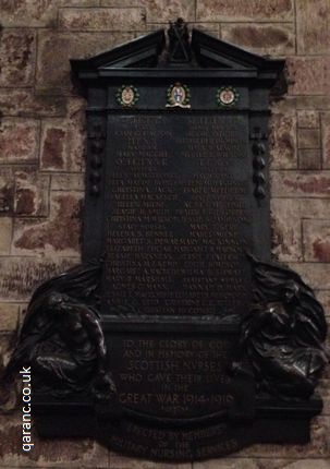 st giles cathedral edinburgh scottish war memorial nurses great war