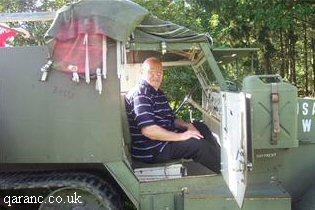 War Veteran In Army Vehicle