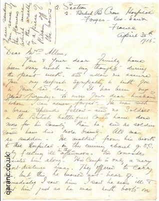 world war 1 letters to loved ones